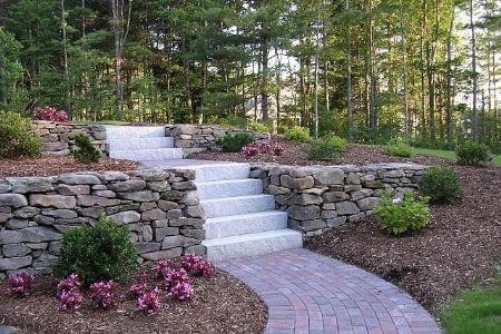 Costruire gradini pietra