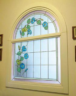 Le finestre e i vetri decorati giardino - Vetri decorati per finestre ...